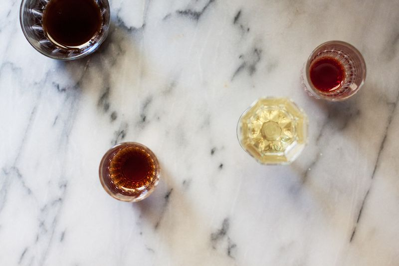 Various amari, ready for sipping.