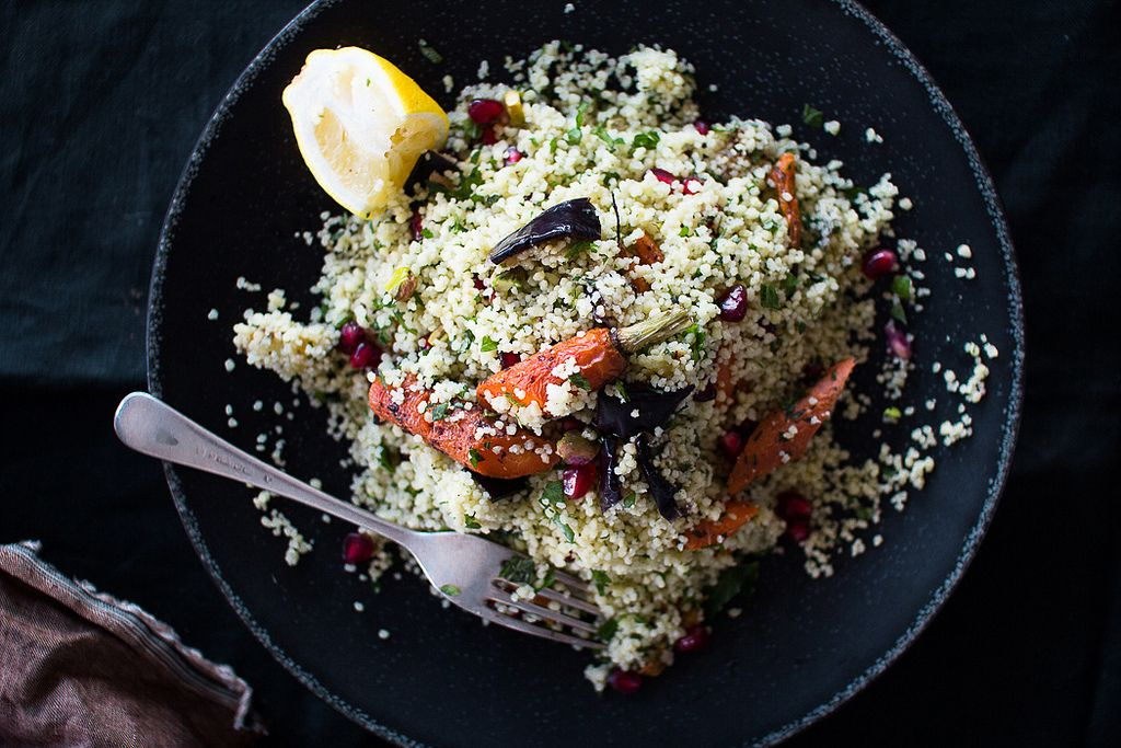 Winter Tabbouleh with Roasted Vegetables