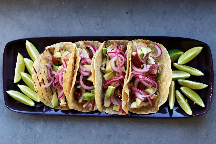 Tequila Lime Chicken Tacos