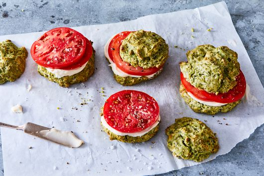 Herby Biscuit Tomato Sandwiches