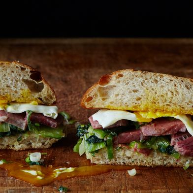 Corned Beef and Cabbage Breakfast Sandwich