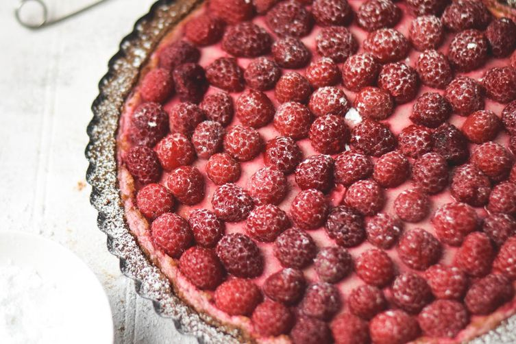 Fresh Raspberry Lemon Cheesecake Tart