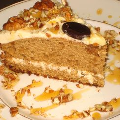 Maple Cake with Maple Pecan Buttercream