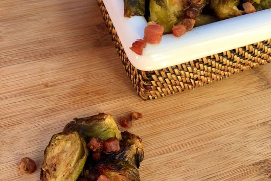 Roasted Brussel Sprouts with Balsamic Date Reduction