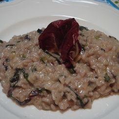 Radicchio and Gorgonzola risotto