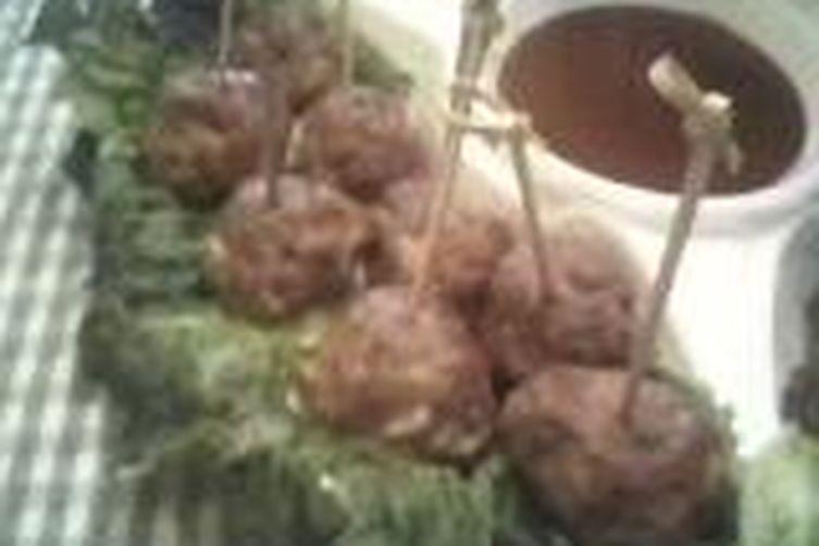 Buffalo Bleu Balls in Red Mud Sauce