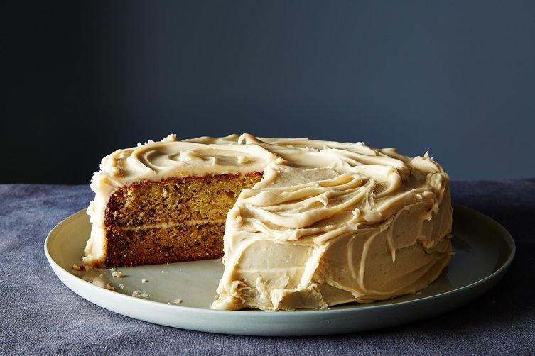 Banana Cake with Penuche Icing Recipe