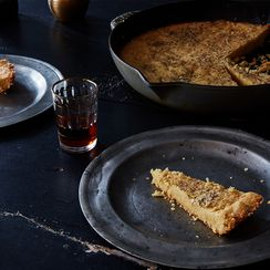 A Genius, Soft-Crisp-Crumbly-Cheesy Skillet Shortbread