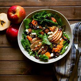 Autumn Harvest Salad with Maple Balsamic VInaigrette