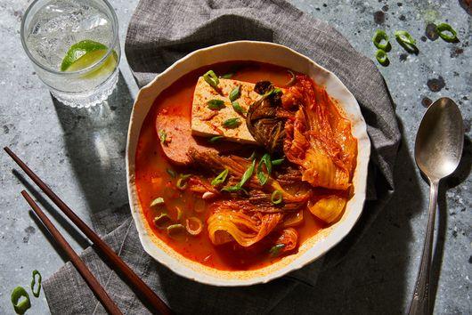 Kimchi Jjigae With Spam & Tofu