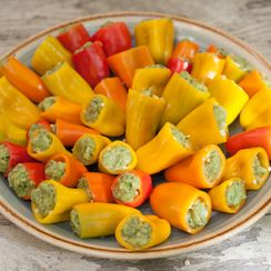 Avocado Pesto Stuffed Peppers