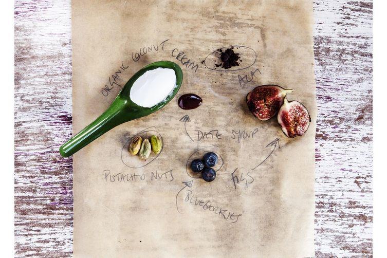 Roasted Figs with Açaí Coconut Cream