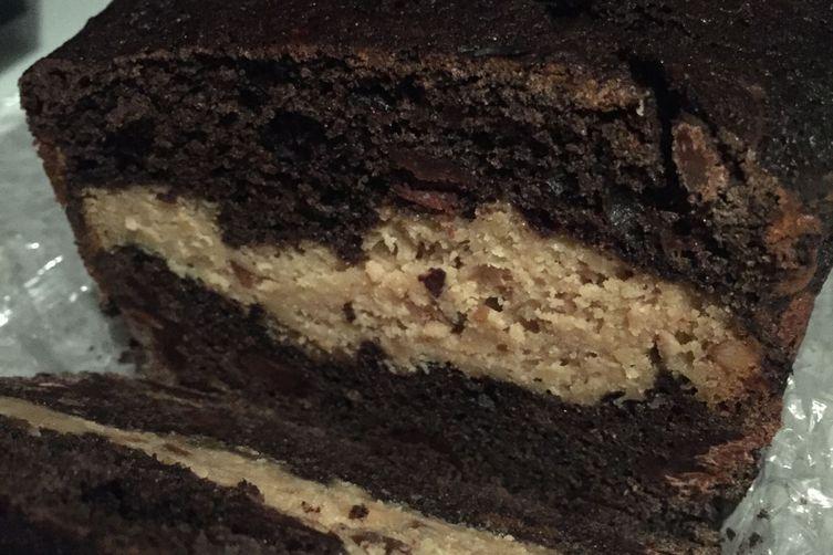 Filled Chocolate Banana Bread