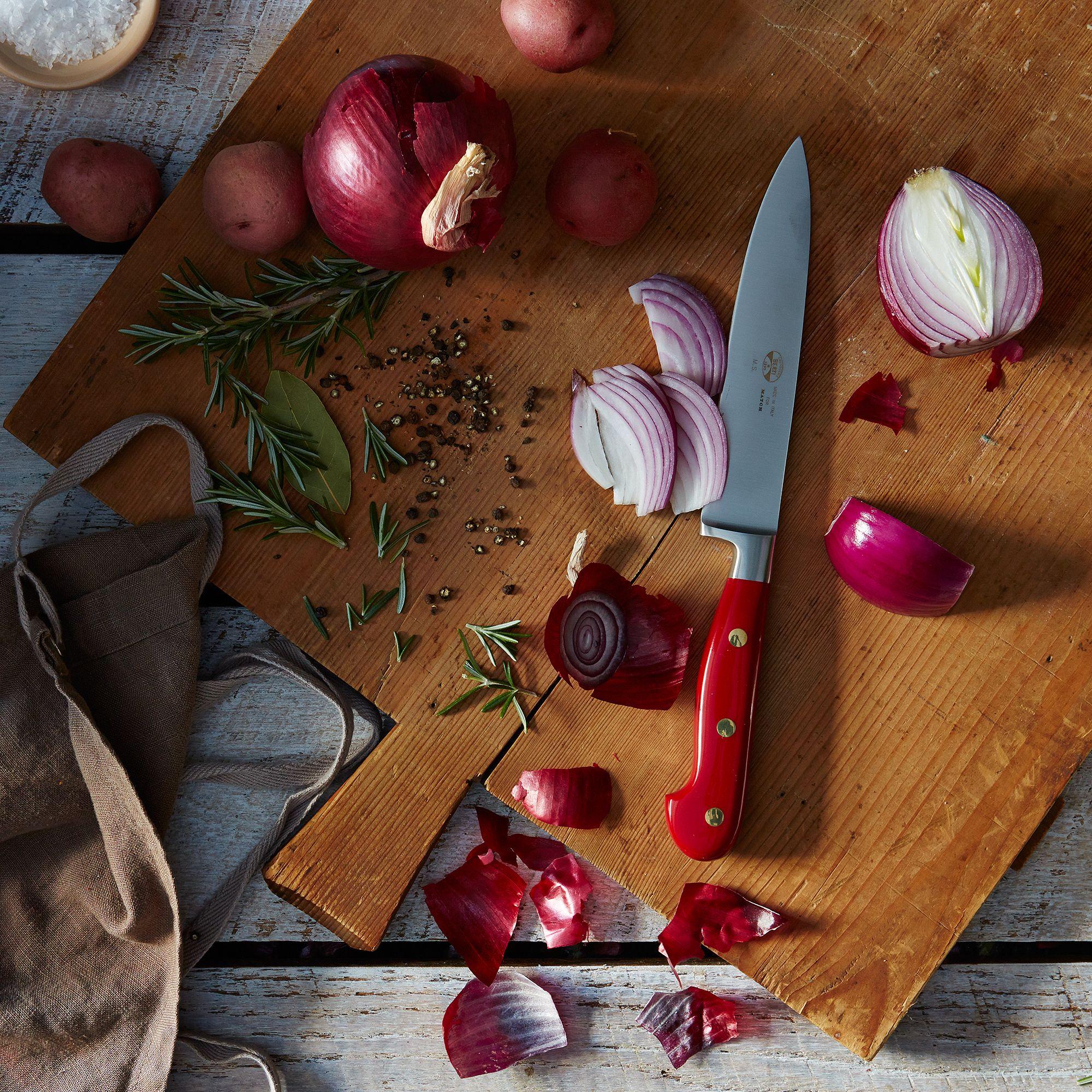 berti red handled italian kitchen knives on food52