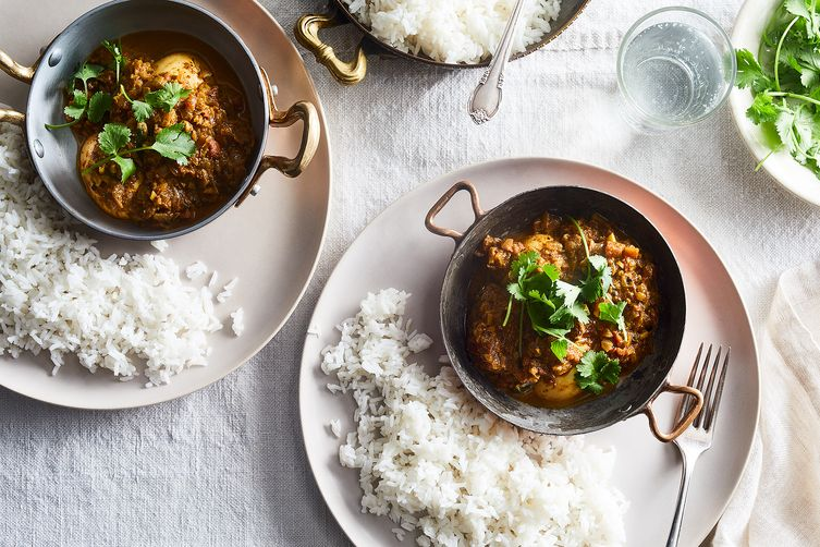 Dad's South Indian Egg Curry