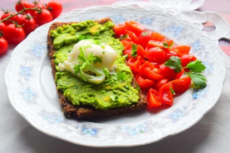 Healthy Avocado & Poached Egg Breakfast