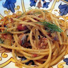 Pasta con le Sarde (Bucatini with Sardines)