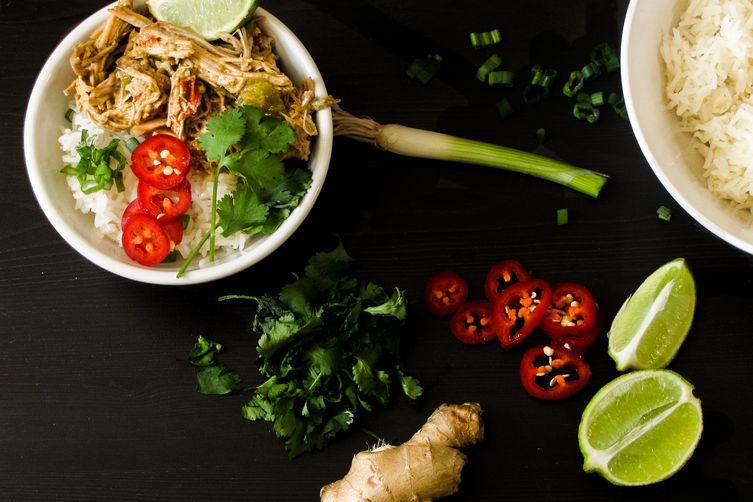 Thai Green Curry Pulled Pork Bowl