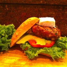 Smokey Chipotle Burgers with Goat Cheese