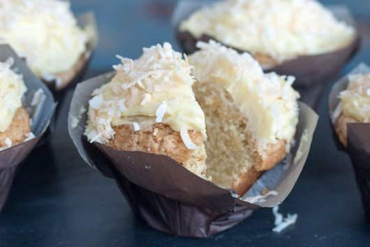 Brazilian-Style Coconut Truffle Cupcakes
