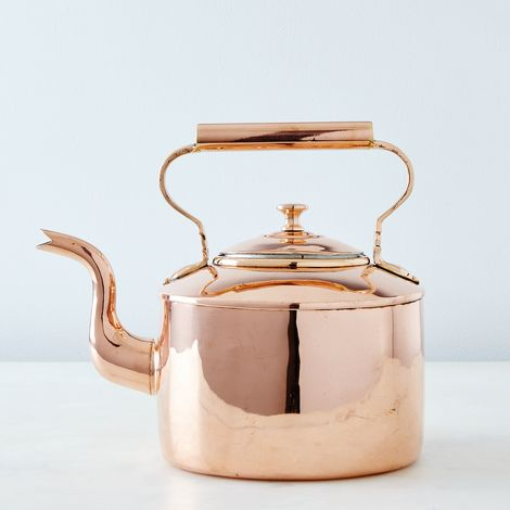 Vintage Copper English Oval Tea Kettle, Mid 19th Century