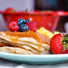 Fluffy Cream of Wheat Pancakes