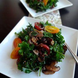 Warm Kale & Mushroom Salad