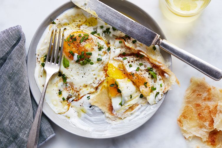 Julia Turshen's Olive Oil-Fried Eggs with Yogurt & Lemon