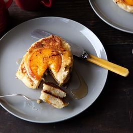 Caramelized Peach Pancakes