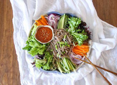 Spicy Korean Buckwheat Noodle Salad