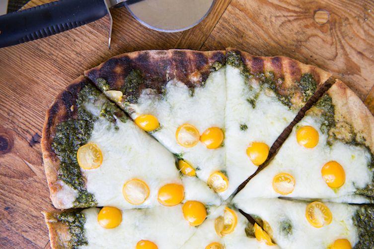 Kale Pesto Grilled Pizza