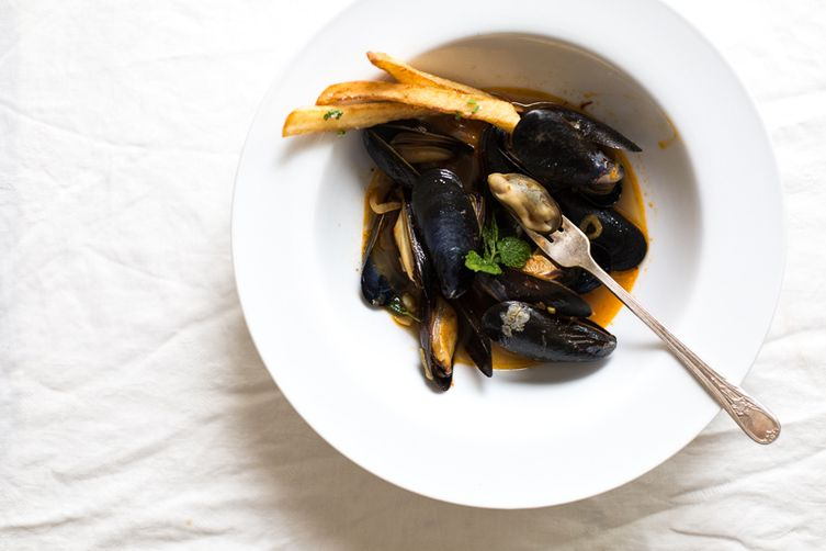 Moroccan Moules Frites