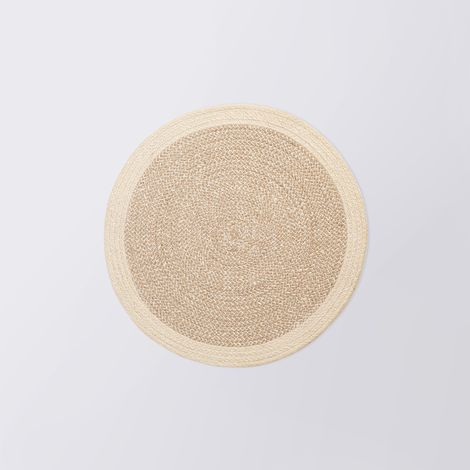 Cotton & Jute Woven Natural Placemats (Set of 4)