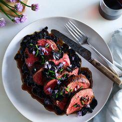 Beef Tenderloin with Black Truffle Sauce