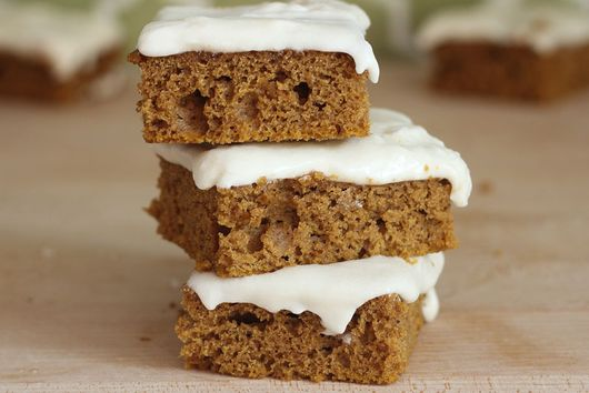 Spiced Pumpkin Bars with Cream Cheese Frosting