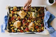 Chicken Thighs with Chickpea Ratatouille