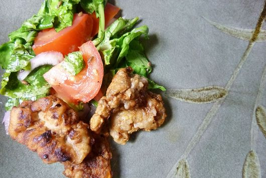 Everything Middle-eastern seasoned fried alligator
