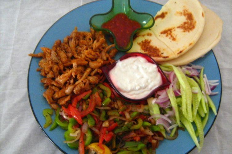 Chicken tikka fajita Shawarma
