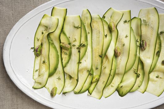 Patricia Wells's Zucchini Carpaccio With Avocado & Pistachios
