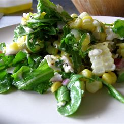 Peppery, Tangy Corn Salad