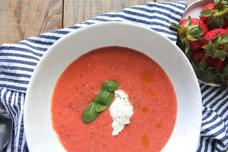 Strawberry and Tomato Gazpacho