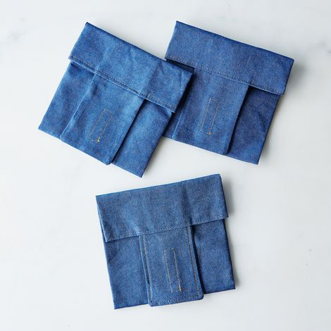 Denim Sandwich Wraps (Set of 3)
