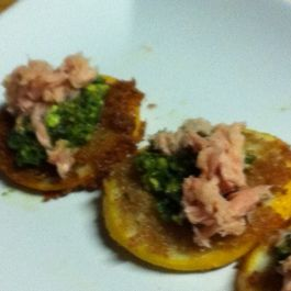 Tuna with Salsa Verde and Fried Meyer Lemons