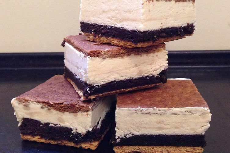 S'Mores Brownie Ice Cream Sandwiches