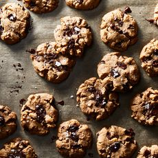 Vegan Chocolate Chunk Cookies with Flaky Sea Salt
