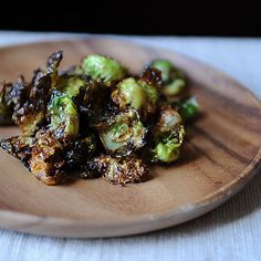 Crispy Fried Brussels Sprouts with Honey and Sriracha