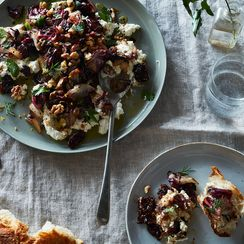Bittersweet Roasted Radicchio With Ricotta & Dates
