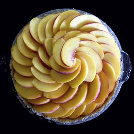 Maple Almond Peach Tart