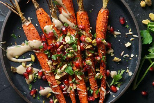 Sumac Roasted Carrots with Tahini Sauce