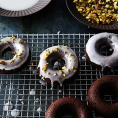 Chocolate-Coconut Cake Donuts